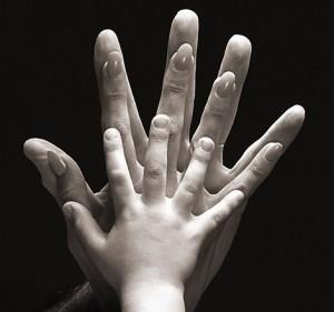parent child hands