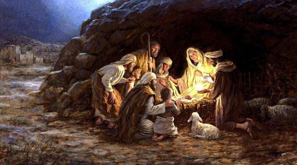 nativity in cave
