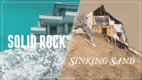 solid rock sinking sand